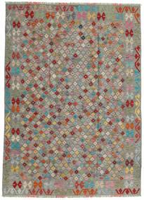 Chilim Afghan Old Style Covor 172X241 Orientale Lucrate De Mână Gri Deschis/Gri Închis (Lână, Afganistan)
