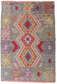 Chilim Afghan Old Style Covor 102X147 Orientale Lucrate De Mână Gri Deschis/Gri Închis (Lână, Afganistan)