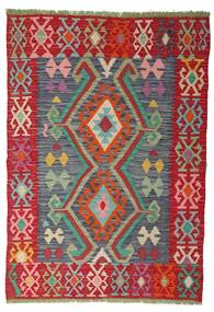 Chilim Afghan Old Style Covor 100X141 Orientale Lucrate De Mână Ruginiu/Roşu (Lână, Afganistan)