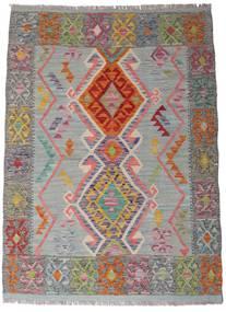 Chilim Afghan Old Style Covor 105X144 Orientale Lucrate De Mână Gri Închis/Gri Deschis (Lână, Afganistan)
