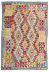 Chilim Afghan Old Style Covor 100X153 Orientale Lucrate De Mână Roșu-Închis/Bej (Lână, Afganistan)