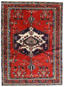 Afshar Covor 122X165 Orientale Lucrat Manual Ruginiu/Albastru Închis (Lână, Persia/Iran)