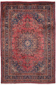 Mashhad Covor 203X302 Orientale Lucrat Manual Maro Închis/Roșu-Închis (Lână, Persia/Iran)