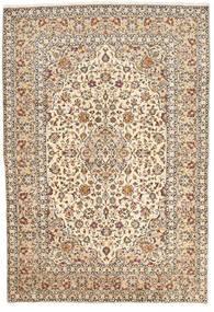 Kashan Covor 200X295 Orientale Lucrat Manual Bej/Maro Închis (Lână, Persia/Iran)