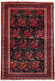 Afshar Covor 157X228 Orientale Lucrat Manual Roșu-Închis/Albastru Închis (Lână, Persia/Iran)