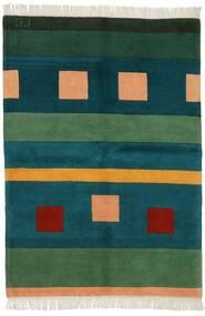 Gabbeh Indo Covor 144X201 Modern Lucrat Manual Întuneric Turquoise/Verde Închis (Lână, India)