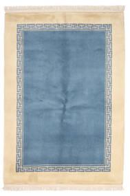 China 90 Line Covor 137X198 Orientale Lucrat Manual Albastru Deschis/Bej (Lână, China)