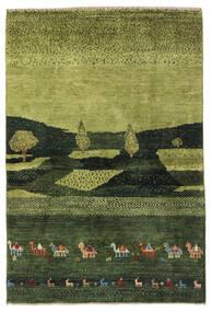 Gabbeh Persia Covor 104X150 Modern Lucrat Manual Verde Închis/Verde Oliv (Lână, Persia/Iran)